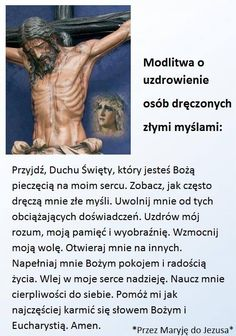 Modlitwa o uzdrowienie osob dręczonych złymi myslami. Phrases And Sentences, Mind Power, Music Humor, God Loves You, Spiritual Life, God Is Good, Good Vibes, Motto, Gods Love