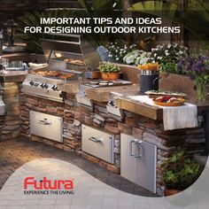 Get important tips and ideas for amazing and innovative outdoor kitchen design ideas. For more details Visit: http://www.futurainterior.com #FuturaInterior #ModularKitchen #ModularKitchenBangalore #KitchenDesigns