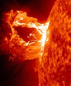 Space And Astronomy This will take you to an awesome video of solar flare footage captured by NASA. THE SUN IS AMAZING - Nasa captures magnificent footage of huge solar flare erupting from the sun.