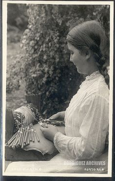 Puerto Rico, lady making bobbin lace. My grandfather was from Mona where they did this art form.