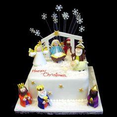 Nativity Christmas Cake Design : Nativity Cake My creations Pinterest Birthdays ...