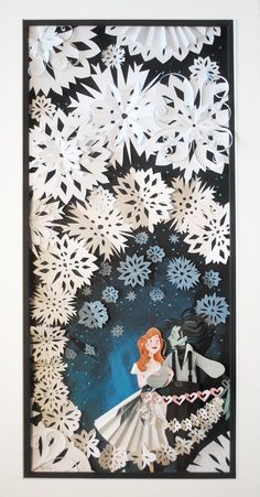 "Weird movie, cool papercut....thought you would want to see.  ""First Snow"" from Edward Scissorhands as rendered by Brittney Lee"