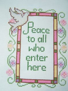 Mother's Day Completed Cross Stitch Sampler by WitsEndDesign, $45.00