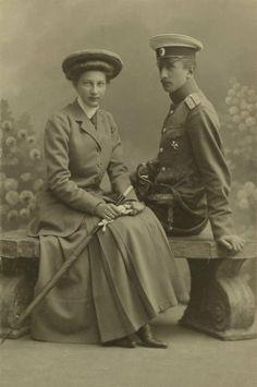Princess Tatiana Konstantinovna with her husband