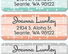 Retro return address labels - small business Saturday shopping