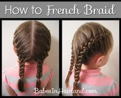 haar kinderen meisjes haar kinderen meisjes How to: Tight Dutch Braids on Yourself - Babes In Hairland # tight Braids up dos How to: Tight Dutch Braids on Yourself - Babes In Hairland # two tight Braids # tight Braids up dos Braid Styles, Short Hair Styles, Natural Hair Styles, French Braid Pigtails, How To French Braid, How To Braid Hair, Learn To French Braid, Side French Braids, Side Braids