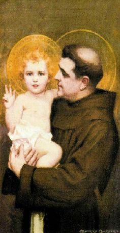 St Anthony of Padua, Friar.  If you ever get the chance to google stories of his life, you will not regret it.  Inspiring!