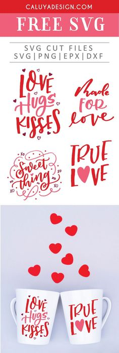 Free Valentine's Day Bundle SVG, PNG, EPS & DXF by Caluya Design. Compatible with Cameo Silhouette, Cricut and other major cutting machines!Perfect for your DIY projects, Giveaway and personalized gift. Perfect for Planner customization! Valentines Day Sayings, Valentine Day Crafts, Valentines Font, Valentines Design, Valentines Day Shirts, Valentine's Day Quotes, Clipart, Planner Stickers, Free Printable Clip Art