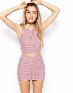 Image 1 of ASOS Reclaimed Vintage Cami Top In Gingham Check