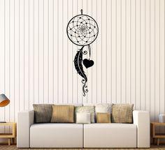 Vinyl Wall Decal Dream Catcher Feathers Love Bedroom Stickers (401ig)