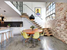 Warehousestalking - desire to inspire - desiretoinspire.net - eames chairs - brick wall