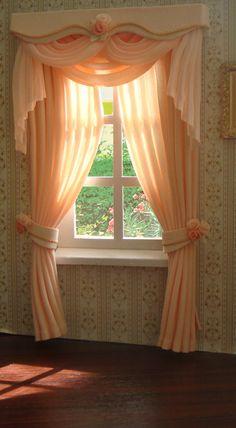 Miniature 1:12 Dollhouse curtains ( on order)