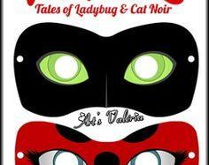 Máscaras Miraculous Ladybug e Cat Noir