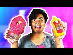 DIY KETCHUP + MUSTARD SLIME! - YouTube How To Make Ketchup, Michael Jackson Youtube, Guava Juice, Cute Animal Drawings, Super Mario, Slime, Mustard, Famous People, Join
