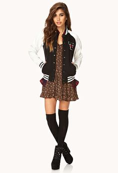 Street-Chic Varsity Jacket | FOREVER 21 - 2000074320 #F21CRUSH