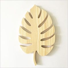 This beautiful wooden monstera leaf is made from premium pine and comes natural and untreated. There is a hole on the back ready to hang on the...