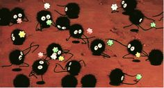 Spirited Away; soot sprites!!