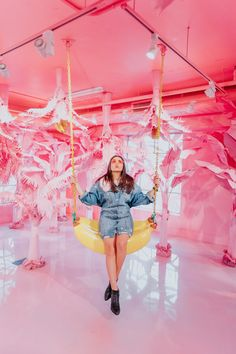 Visiting the Museum of Ice Cream in Miami- banana swing