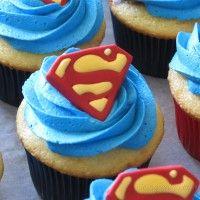 Superman Birthday Party, Birthday Party Desserts, Party Snacks, 3rd Birthday, Birthday Cakes, Birthday Ideas, Superman Cupcakes, Super Heros, Grooms
