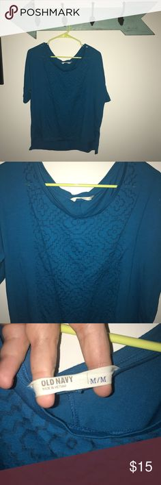 Medium Blue Blouse Medium Blue Old Navy Blouse. Good used condition. Old Navy Tops Blouses