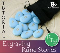 Easy DIY tutorial for Engraving Runestones or just stones. Follow the instructions to make your own set of carved runes used for rune magic or decoration.