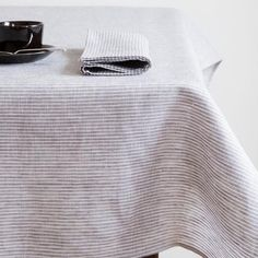 A thoughtful addition to your daily dining ritual, these long-lasting linen tablecloths will only get softer with each wash. Also great for picnics. small: W 13