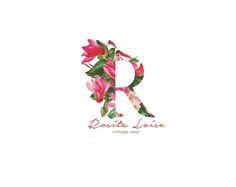 Flower logo Floral logo Business logo design Hand Drawn logo illustrated logo feminine logo whimsical logo photography logo bakery logo