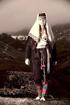Muslim traditional clothing from Bjelašnica, Bosnia and Herzegovina.