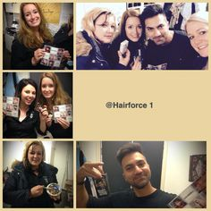 Our team! Happy! #working #Hairforce1
