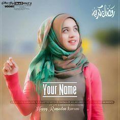 Ramadan Wallpaper For Girls With Name Replacement Muslim Girls Photos, Cute Muslim Couples, Girl Photos, Ramadan Dp, Mubarak Ramadan, Jumma Mubarak, Your Name Wallpaper, Girl Wallpaper, Beautiful Hijab Girl