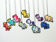 My Little Pony necklaces by RedStarEast get me this or never see the broad DAYLIGHT EVER AGAIN!!!please