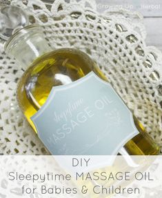 Sleepytime Massage Oil For Babies and Children – Newborn Baby Massage Baby Massage, Massage Bebe, Oils For Sleep, Perfume, Baby Oil, Natural Baby, Natural Living, Home Made Soap, Homemade Beauty
