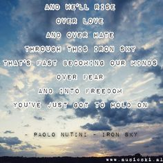 Paolo Nutini - Iron Sky #muziek #music #quotes