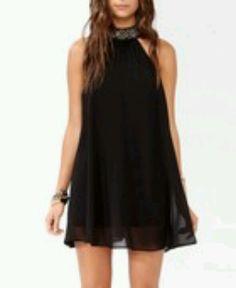 Bejeweled high neck dress