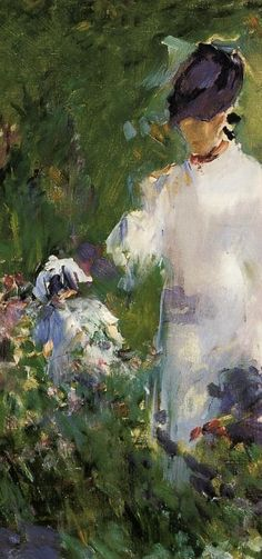 Manet : Young Woman Among The Flowers (detail)