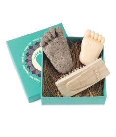 HAPPY FEET SPA SET | Pumice, Stone, Nails, Spa, Set, Feet, Pedicure, Nail, Brush, Soap | UncommonGoods