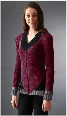 Ravelry: Project Gallery for District 12 Sweater pattern by Patons