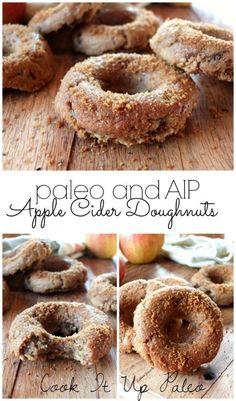 AIP Recipes Paleo Apple Cider Doughnuts made with Otto's Naturals Cassava Flour (AIP) Autoimmun Paleo, Paleo Donut, Paleo Bread, Paleo Recipes, Cooking Recipes, Paleo Meals, Paleo Flour, Paleo Dessert, Paleo Sweets