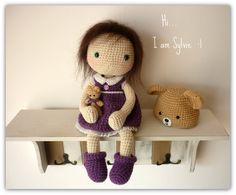Muñeca amigurumi Crochet  Sylvie por Rusi muñecas