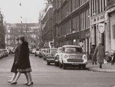 1950's. Opel RJ-40-69, Ford Taunus 17M Standaard, Mercury 1959 parked in a street in Amsterdam. #amsterdam #1950