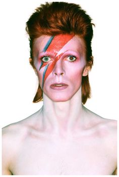 David Bowie photographed by Richard Avedon  Rules of thirds- right eye is at the intersection.