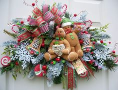 Gingerbread Cookie Swag  http://www.timelessfloralcreations.com/