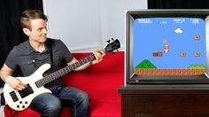 Musician Plays Super Mario Theme Song and In-Game Sound Effects on His Bass Guitar Play Super Mario, Super Mario Bros, Game Sound Effects, Video Game Music, Music Humor, Vintage Games, Theme Song, My Music, Bass