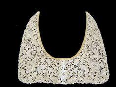 Antique Vintage Chemical Lace Collar Ecru | eBay