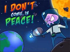 """I Dont Come In Peace  Robar el OVNI de este extranjero era una mala idea .. En 'yo no vengo en paz """"que está ayudando a un individuo extranjero rosa para recuperar su nave del Área 51."""