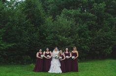 Champagne Allure wedding gown.  Alfred Angelo bridesmaids gowns.  Junior bridesmaid by Alfred Angelo.  Nikita Gillard's wedding. Newfoundland, Canada. 2017. Copyright, Megan White Photography. 2017.