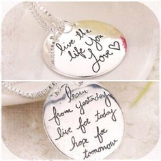 "Live the Life you Love Necklace New live the life you love necklace. 20"" chain. Bundle and save Jewelry Necklaces"