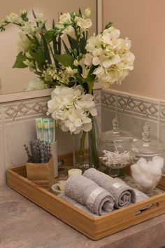 Elegant powder room organization.