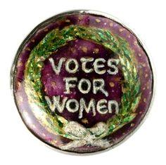 Suffragette brooch
