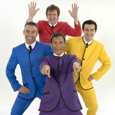 The Wiggles, Justin has seen then in concert 4 times and has grown out of them...but Gregs back..so Wiggles..here we come!